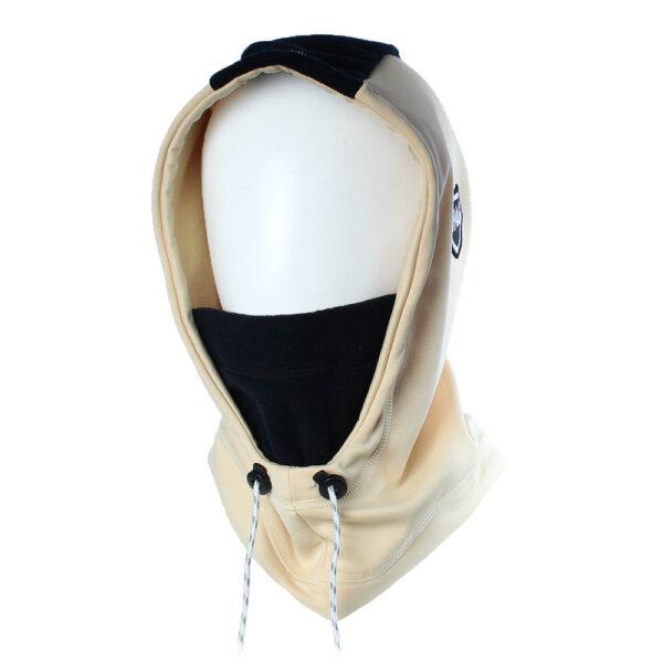 Hooded beige noir
