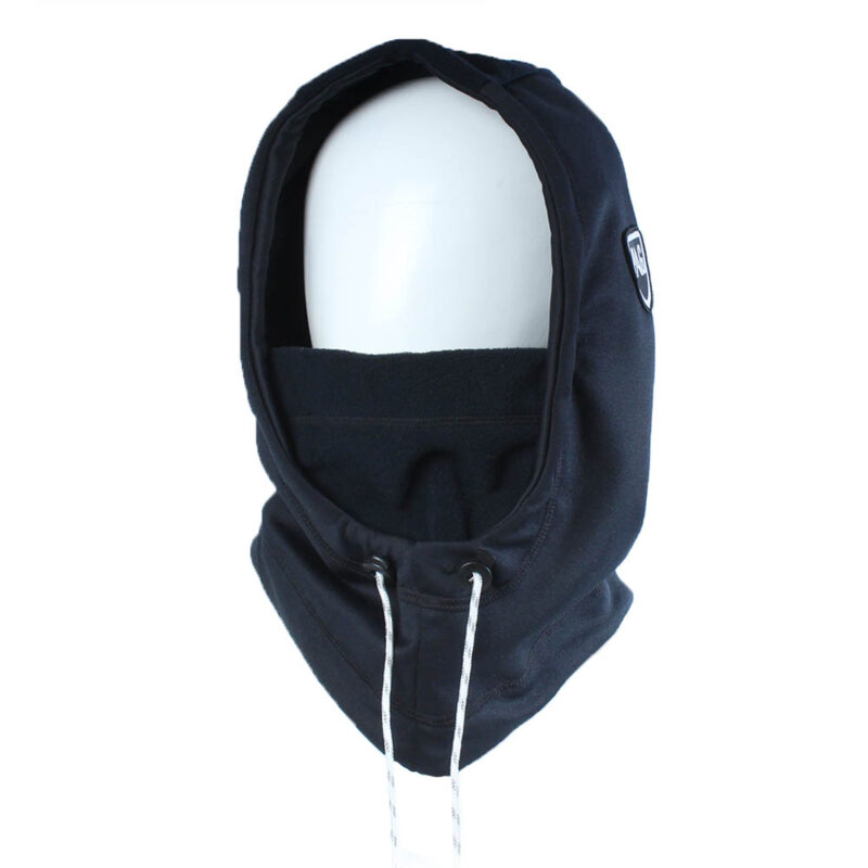 Balaclava Hooded double black