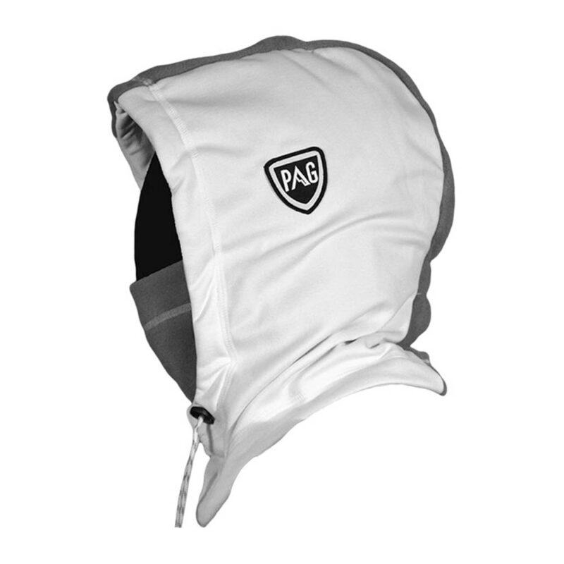 Balaclava Hooded white and grey side
