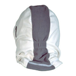 balaclava Hooded white and grey seen from back