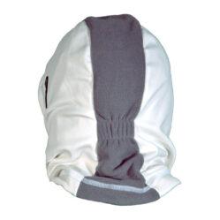 Cagoule Hooded blanc et gris vu de dos