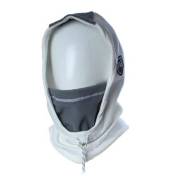 Balaclava Hooded white and grey