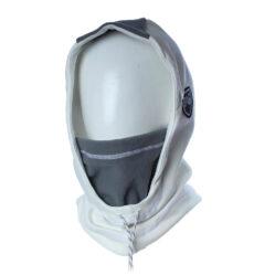 Cagoule Hooded blanc et gris