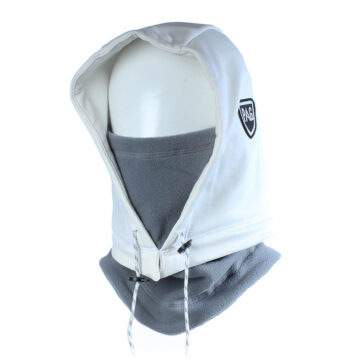 Cagoule Hooded Adapt blanc déperlant gris
