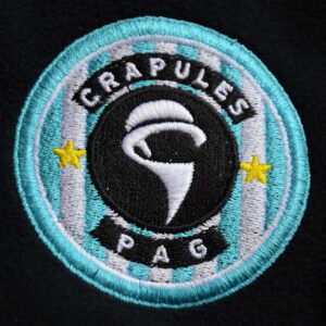 Logo Crapules brodé