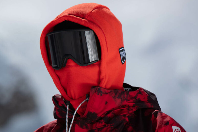 Portrait balaclava hooded red
