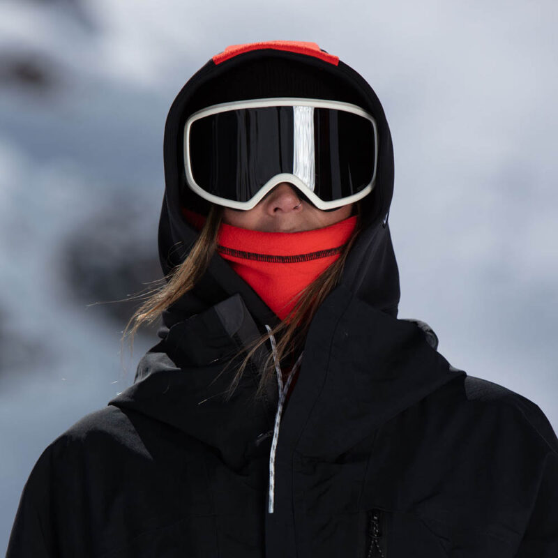 balaclava Hooded Adapt red and black portrait
